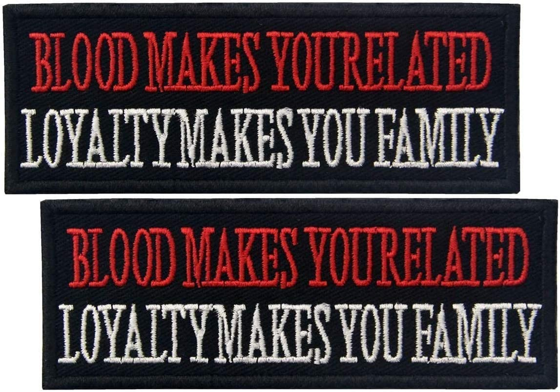 Today's only 2 pcs Blood Ranking TOP2 Makes You Related Family - Loyalty Patch