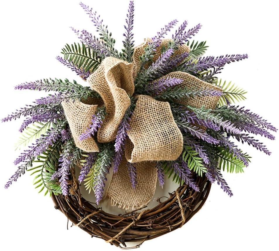 LZL Wreath Creative Ranking TOP11 Rapid rise Handmade Rattan W Lavender Simulation