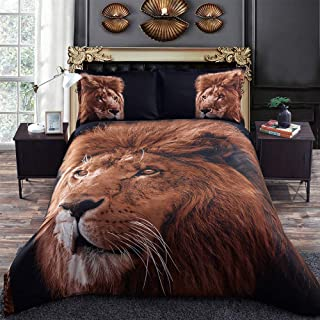Jungle King Lion 3D Bed set
