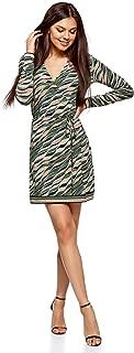 oodji Ultra Femme Robe Style Sportif /à Encolure Zipp/ée