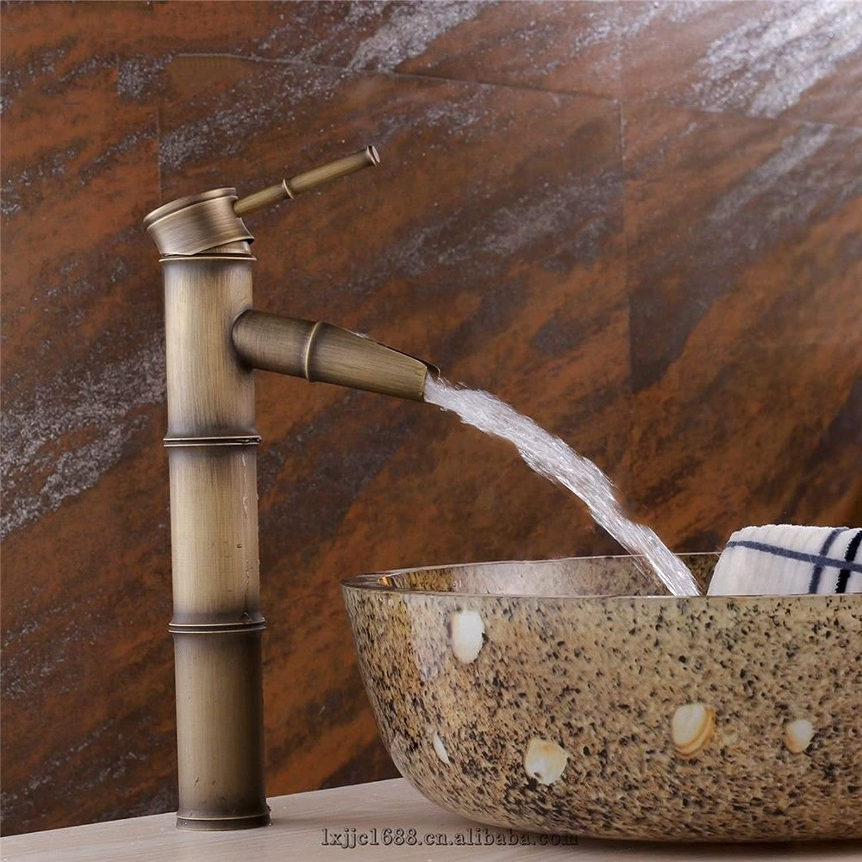 Lvsede Wasserhahn Bad Küche Badewanne Wasserhahn Messing Bambusform Einhand Ein Loch Keramik Ventil Heies Und Kaltes Wasser Bad Waschbecken Wasserhahn