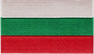 EmbTao Bulgaria Flag Patch Embroidered National Morale Applique Iron On Sew On Bulgarian Emblem