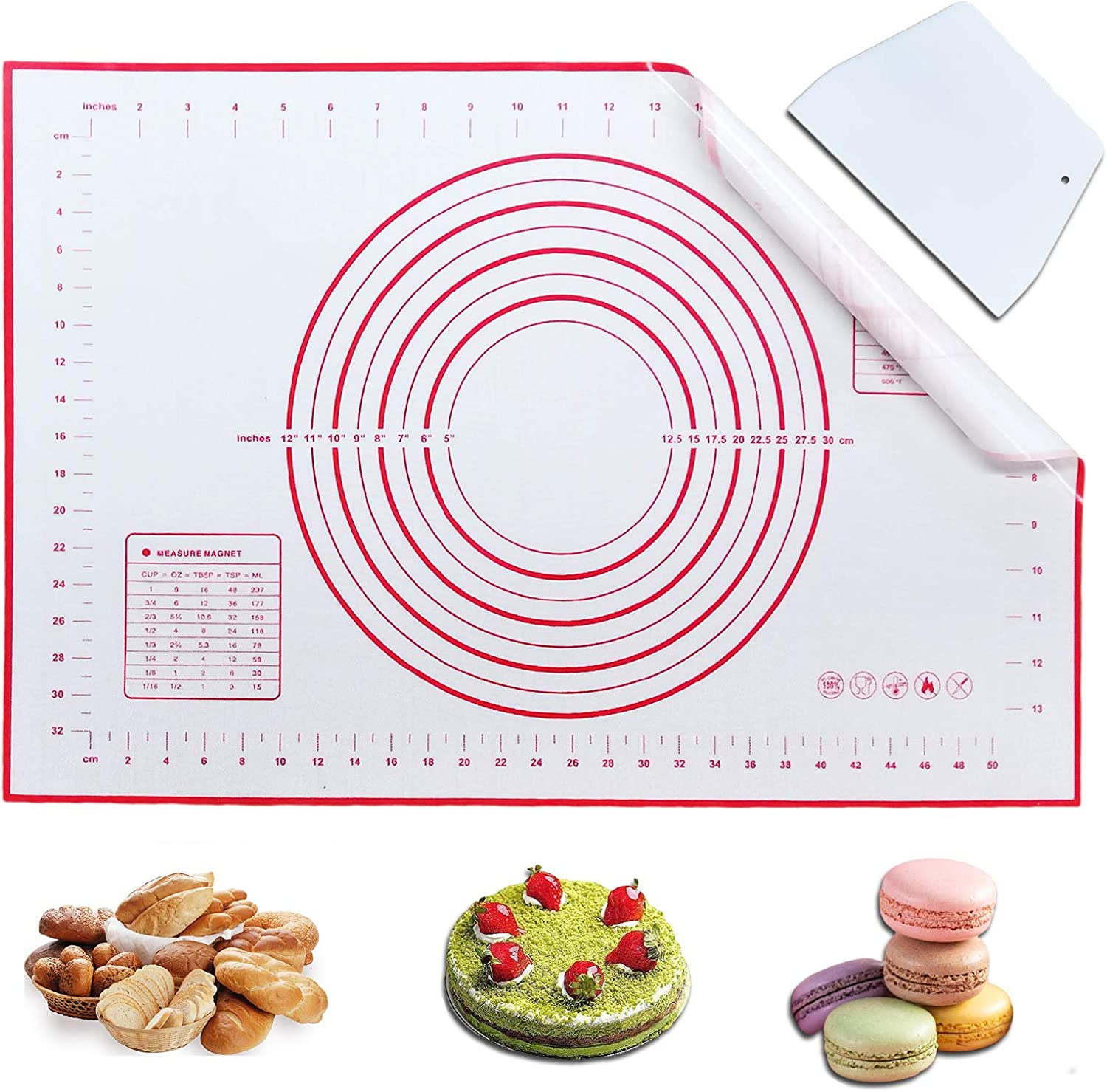 Haozcl Silicone Baking Mats Non Slip depot Pastry Extra Large Mat With Fort Worth Mall
