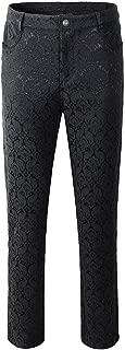 Men's Trousers Pants Black Brocade Steampunk VTG Vintage Gothic Victorian