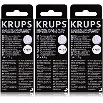 Krups XS3000 - Pastillas de limpieza, 3 unidades: Amazon.es: Hogar