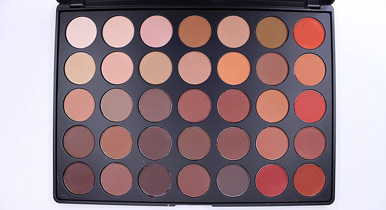 毒不定キャストMorphe 35OM - 35 COLOR MATTE NATURE GLOW EYESHADOW PALETTE