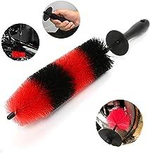 TAKAVU Master Wheel Brush, Easy Reach Wheel and Rim Detailing Brush 18'' Long Soft Bristle, Car Wheel Brush, Rim Tire Detail Brush,Multipurpose use for Wheels,Rims,Exhaust Tips,Motorcycles
