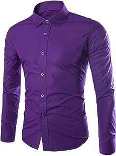 WSLCN メンズ 長袖シャツ ワイシャツシンプル上品 着心地 通勤 登校 多色 5サイズ オシャレ ボタンダウン 無地 着回し ボタンダウン ビジネス 折り襟 四季節