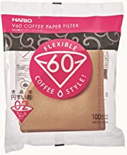 Hario VCF-02-100M Paper Coffee Filters, Natural-Tabbed 02