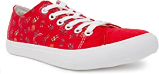 Ann Arbor T-shirt Co. Women's Ladybug Sneakers Cute Fun Gym Trainer Lady Bug Canvas Tennis Shoe