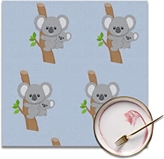 Placemats Cute Australia Koala Bear Square 12 x 12 Inch Washable Table Mats for Kitchen Dinning Set of 4