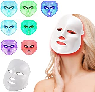 LED Photon Therapy 7 Colors Light Treatment Facial Beauty Skin Care Rejuvenation Phototherapy Mask Beauty Face Care Anti-A...