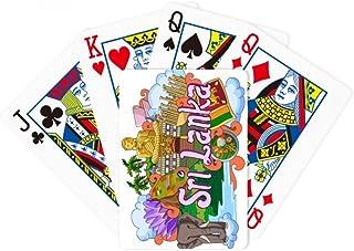 DIYthinker - Juego de Cartas de póquer de Sri Lanka, diseño de Elefante Dambulla