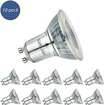 Sanlumia Bombillas LED GU10, 6W = 75W Halógena, 500Lm, Blanco Neutro (4000K), Ultra Brillante, Iluminación de Techo para Cocina, Oficina, o Baño, 38° ángulo de haz,Paquete de 10