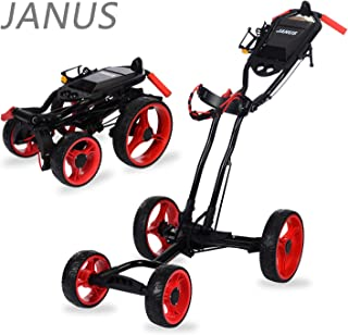 JANUS Golf Push Cart, golf cart used by golf course ,golf pull cart with hand Brake,golf push carts 4 wheel folding ,Suitable for any golf bag, golf accessories in the golf gift
