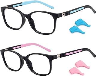 STORYCOAST Kids Blue Light Blocking Glasses for Girls Boys (7-12 Years) 2 Pack, Fake Glasses for Anti Eyestrain & Glare, U...