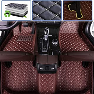 SureKit Custom Car Floor Mats for Ford Galaxy 2007-2016 Luxury Leather Waterproof Anti-Skid Full Coverage Liner Front & Rear Mat/Set (Coffee Color)