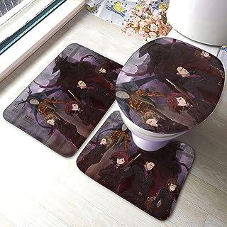 qinhuang Fairy Gone Badkamer Tapijt Mattenset Set 3-delige anti-slip Pads Badmat + Contour + Toiletdeksel Cover