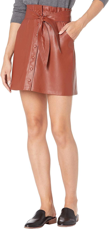 BB Dakota by Steve Madden Women's Belt So Real Faux Leather Skirt