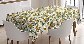 ABAKUHAUS Grande Roue Nappe, Fête foraine à l'automne Art, Linge de Table Rectangulaire pour Salle à Manger Décor de Cuisi...