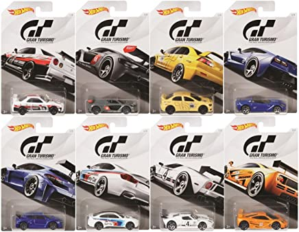 """Hot Wheels 2018 Gran Turismo """"The Real Driving Simulator"""" Bundle Set of 8 Die-Cast Cars, 1:64 Scale"""