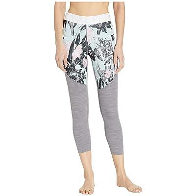 Nike Pro Hyper Femme Crop Tights (White/Gunsmoke/Heather/Black) Women