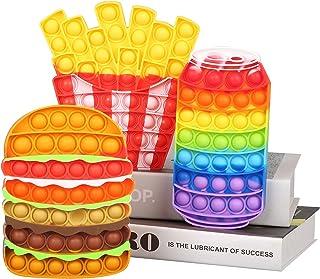 Pop It Fidget Toys ، Finger Hamburger Squeeze Toys with Popping Sound ، اسباب بازی آموزشی حسی برای اوتیسم ، ADD ، ADHD ، اسباب بازی نیازهای ویژه کودکان بزرگسال (همبرگر+سیب زمینی سرخ کرده+کولا -3 عدد)