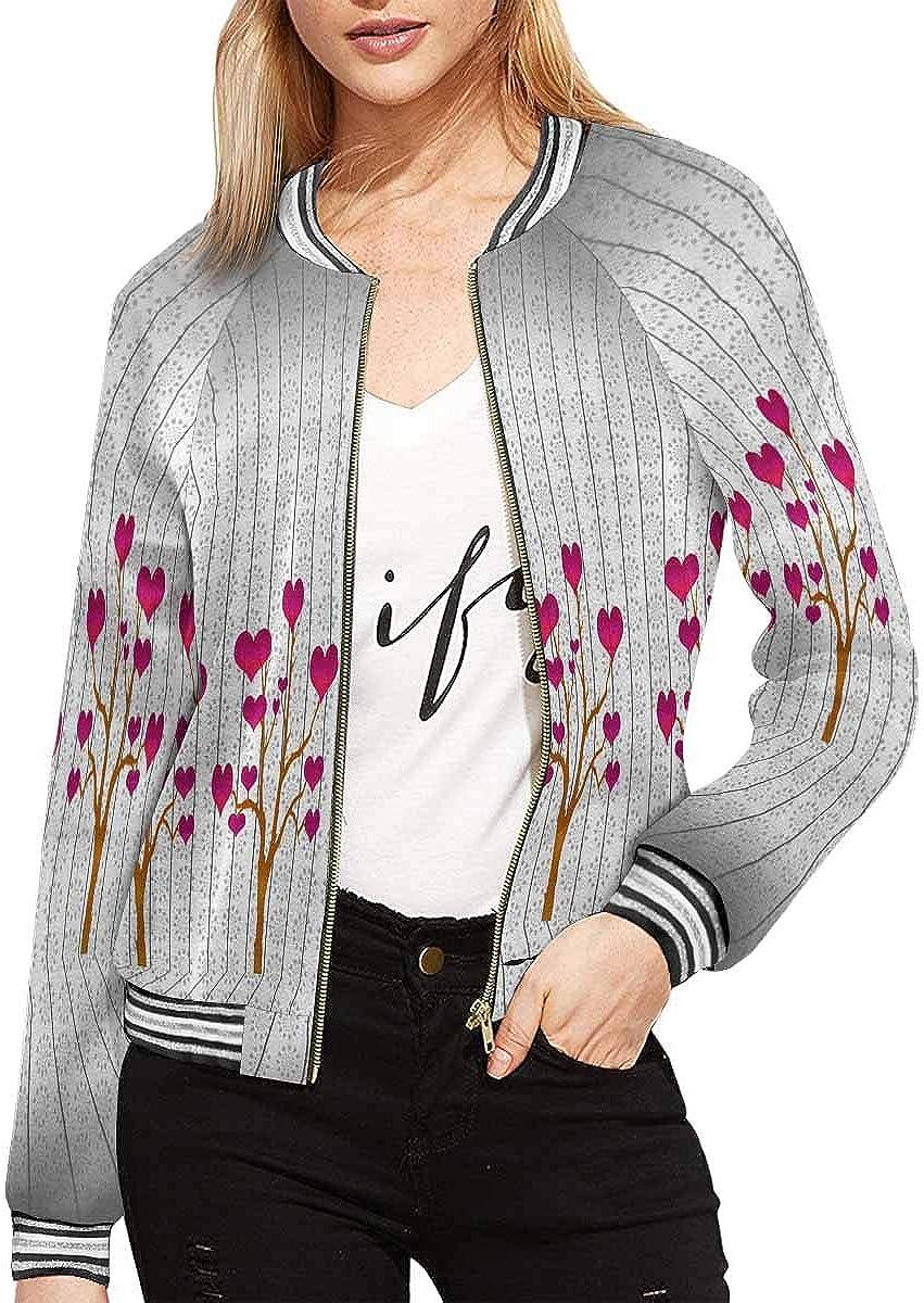 InterestPrint Women's Fish Scales Monochrome Jacket Zipper Coat Outwear