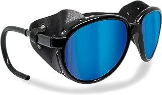 Glacier Polarized Sunglasses for Mountain Hiking Trekking Ski mod Cortina Italy Shiny Black