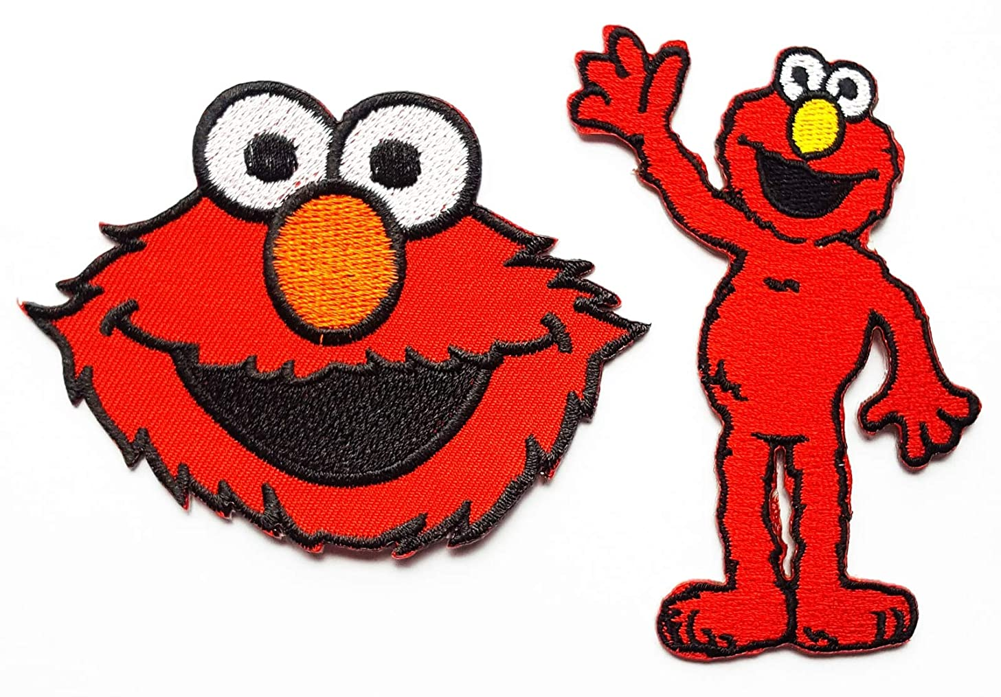 Elmo Say Hi Sesame Street Cookie Monster Patches Children Kids Cartoon Patch Applique for Clothes Great as Happy Birthday Gift