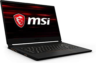 "MSI GS65 Stealth-1668 Thin 15.6"" 144Hz 7ms Ultra Thin and Light Gaming Laptop Intel Core i7-9750H GTX1660Ti 16GB 512GB NVM..."
