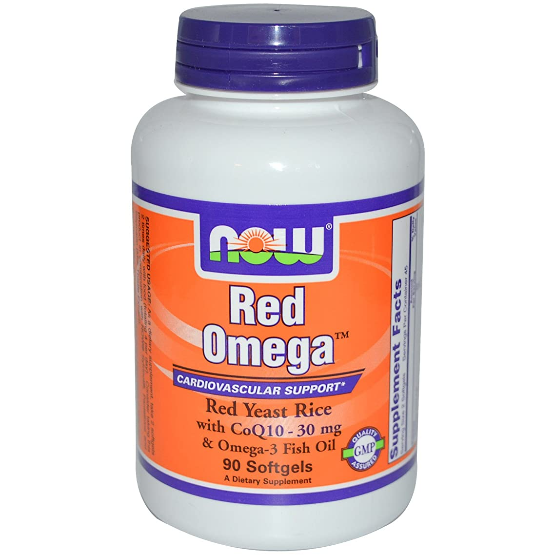 Now Foods, Red Omega, Red Yeast Rice, With CoQ10, 90 Softgels - 3PC