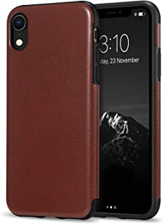 TENDLIN Compatible with iPhone XR Case Premium Leather Outside and Flexible TPU Silicone Hybrid Slim Case Compatible with ...