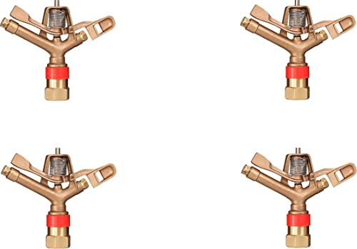 """discount IrrigationKing RK-40F 1"""" outlet sale FNPT online Brass Impact Sprinkler with Nozzles - 9/32"""" x 3/16"""", NPT Female, 40.6 GSM Maximum Flow Rate (4) online sale"""