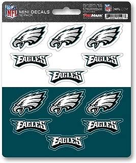 ProMark NFL Philadelphia Eagles DecalDecal Set Mini 12 Pack, Team Colors, One Size