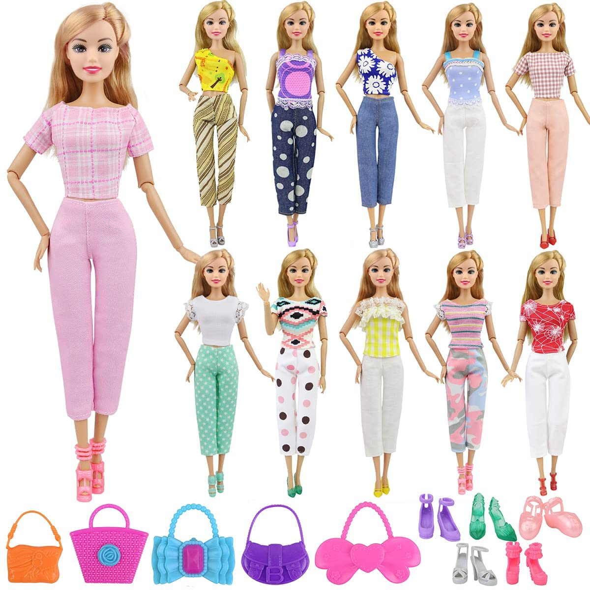 Cheap mail order specialty store Ecore Max 46% OFF Fun Lot 15 Items Girl Accessor Doll Outfits Clothes Casual