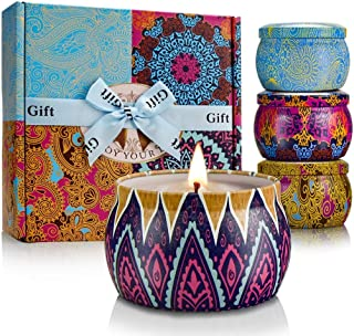 YINUO LIGHT Scented Candles Gifts Set for Women Aromatherapy Candles Stress Relief, Upgraded Large Tin of Soy Candle Scented Lavender Candle, Gifts for Mother`s Day Birthday Anniversary Bath Yoga