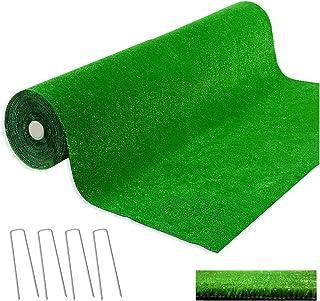 comprar comparacion emmevi - Césped sintético 2 x 3 metros, grosor 7 mm, 4 piquetas de acero incluidas, 100 % fabricado en Italia, césped arti...