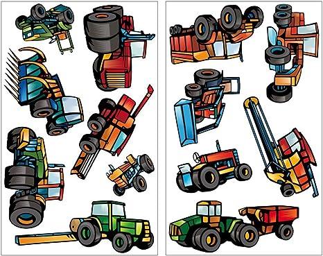 Samunshi 13 Teiliges Wandtattoo Traktor Set Wandbilder Kinderzimmer Deko Junge Wandtattoo Kinderzimmer Madchen Wandsticker Kinderzimmer 2x 16x26cm Amazon De Kuche Haushalt