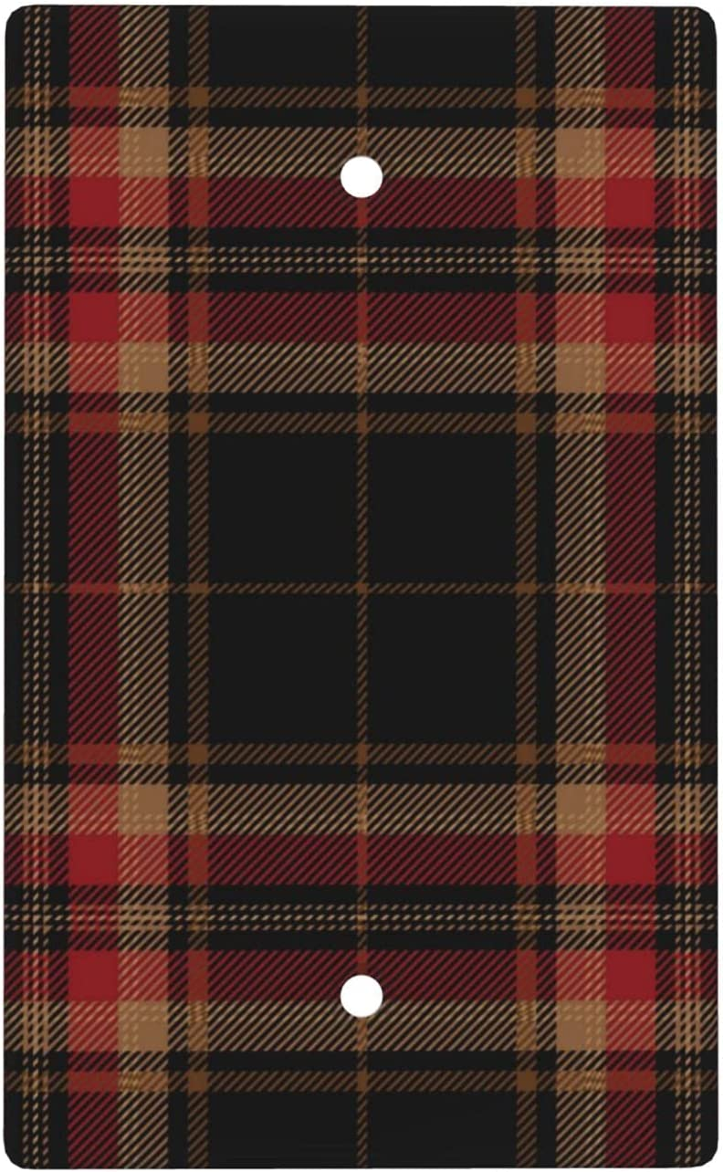 Clearance SALE Limited time Red Black Tartan Blank Cover Wall Size Plate Super beauty product restock quality top! 2.76 X Standard 4.5