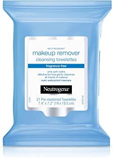 Neutrogena Makeup Remover Cleansing Towelettes, Fragrance Free, 21 ct