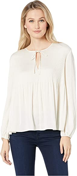 Pleated Peasant Top