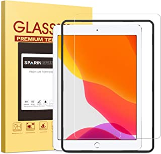 SPARIN Screen Protector for iPad 10.2 Inch (7th Gen) / iPad Air 3 2019 / iPad Pro 10.5, Alignment Frame / Tempered Glass / Apple Pencil Compatible