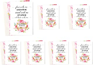 Set of 7 Ask My Bridesmaid Cards Scratch Off Cards (2 Maid of Honor Invites + 5 Bridesmaid Proposal) With Shimmer Pearl Envelopes