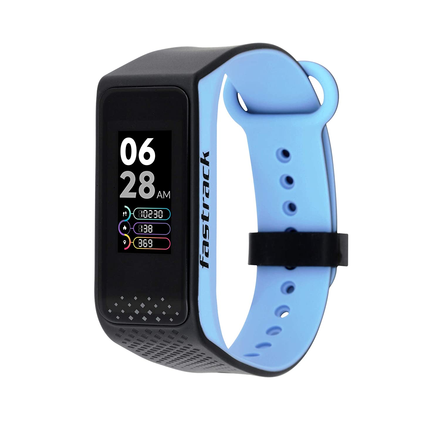 Fastrack reflex 3.0 Unisex activity tracker - Full touch, color display, Heart rate monitor, Dual- tone silicone strap and up...