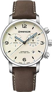 Wenger Homme Urban Metropolitan Chronograph - Montre en Acier Inoxydable avec Quartz, Analogue à la Fabrication Suisse 01....