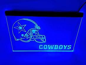 blue Dallas Cowboys Football Beer Bar led neon sign