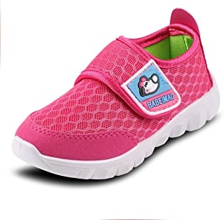 XIPAI Toddler Kid's Cute Casual Lightweight Walking Athletic Shoes Boys Girls Mesh Strap Sneakers