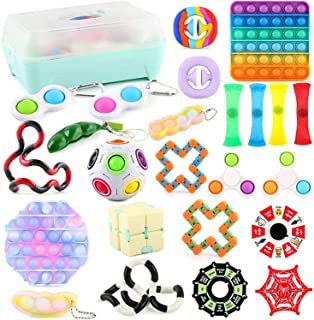 Mumoo Bear 24 Pack Sensory Fidget Toys Set,Stress Relief and Anti-Anxiety Tools Bundle For Kids and Adults,Pea Pods/ Twist...