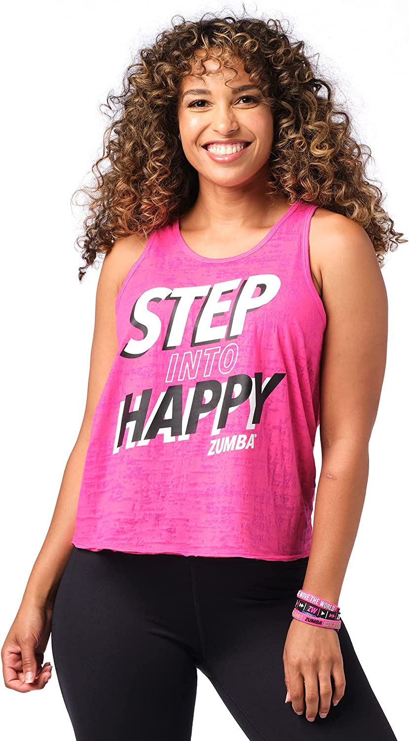 Zumba Burnout Dance Workout Graphic Print Fitness Tank Tops for Women